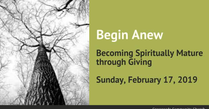 Becoming Spiritually Mature Through Giving