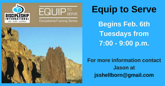 Equip to Serve - Discipleship Training Series image