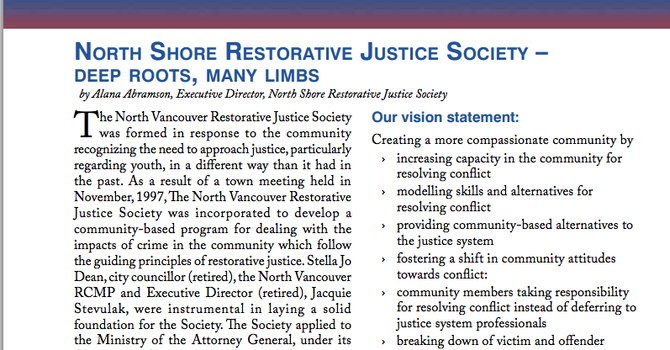 Deep Roots, Many Limbs - RCMP Newsletter image