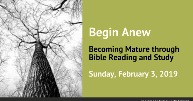 Becoming Mature Through Bible Reading and Study