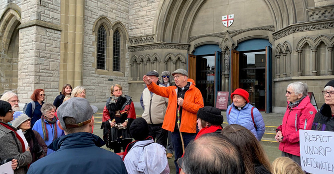 Bishop Logan leads walk to Legislature image
