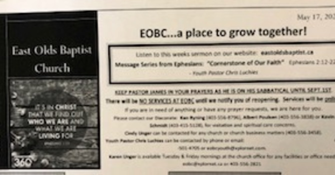 May 17, 2020 Church Bulletin image