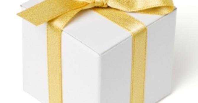 White  Gift Sunday - December 3rd  image