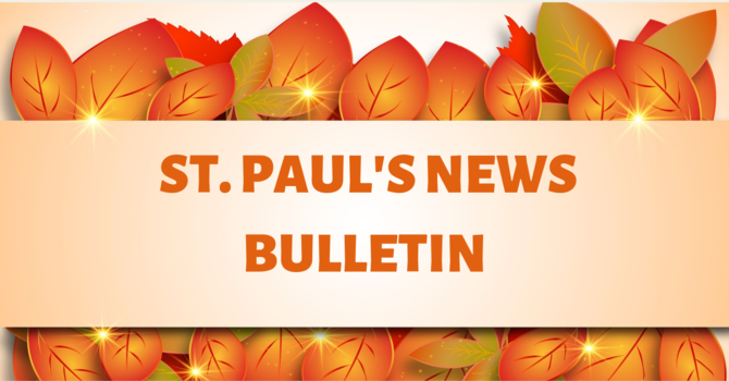 St. Paul's October 13th  News Bulletin image