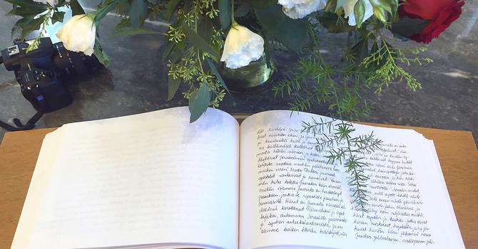 Käsinkirjoitettu suomenkielinen Uusi Testamentti  image