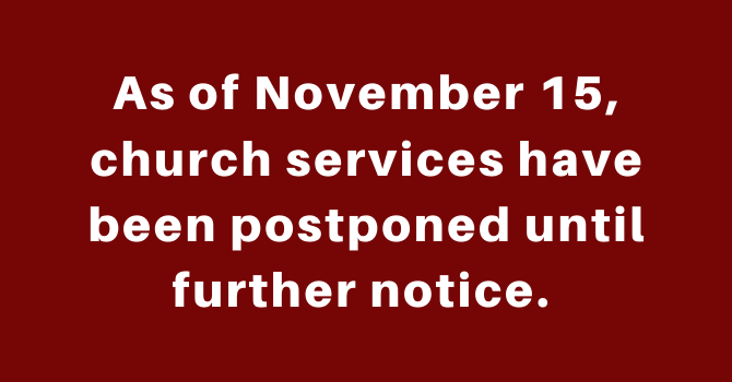 Sunday Services Cancelled image