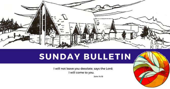 Bulletin - Sunday, June 2, 2019 image