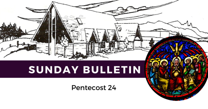 Bulletin - November 15 and 18, 2020 image