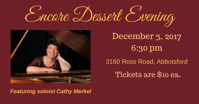 Encore Dessert Evening - Song for a Winter's Night image