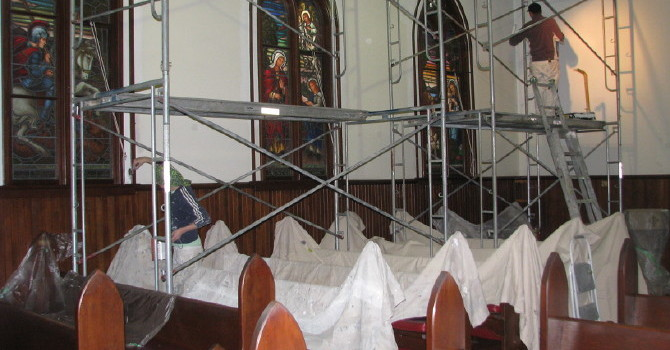 Interior of St. Luke's Church being Painted This Month image