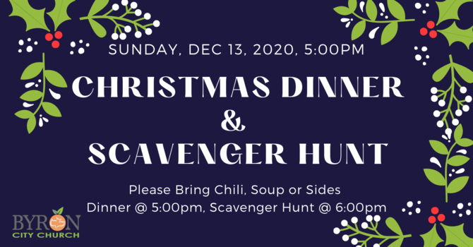 Church Christmas Dinner & Scavenger Hunt