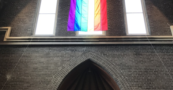 Our Pride Flag is Up image