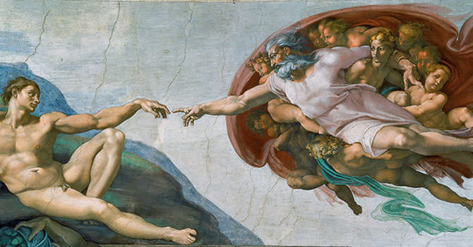 The Creation of Adam image