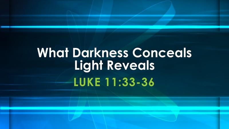 What Darkness Conceals, Light Reveals