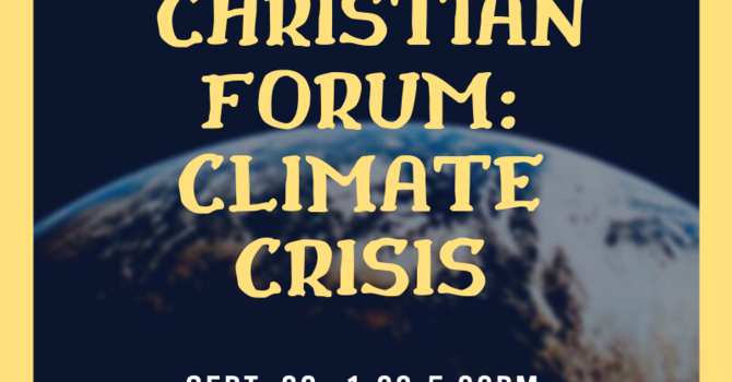 Christian Forum: Climate Crisis