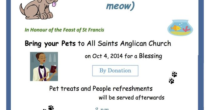Pet Blessing at All Saints', Burnaby image