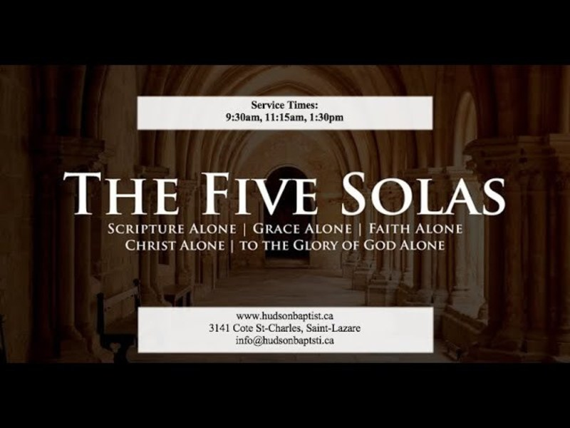 The Five Solas - An Overview