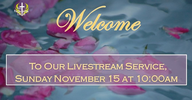 Sunday November 15 Livestream Service