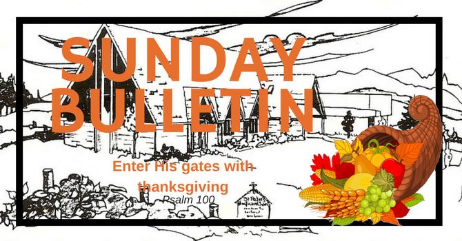 Bulletin - Thanksgiving Sunday, October 8, 2017 image