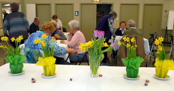 Easter Theme Hot Senior's Lunch Was Hopping image