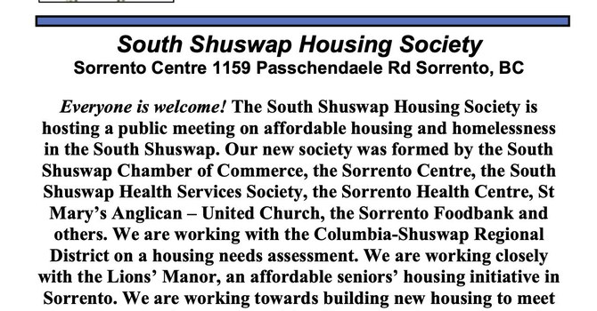 Everyone welcome - affordable housing in the Shuswap... image