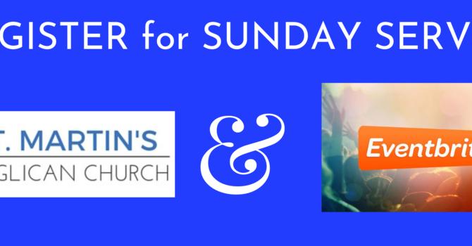 Sunday Service Registration Encouraged image