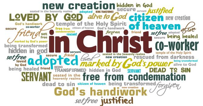 """In Christ"" word cloud image"