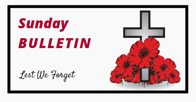 Bulletin - Remembrance Day image