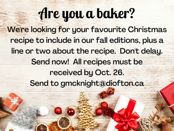 Share your favourite recipe for publication