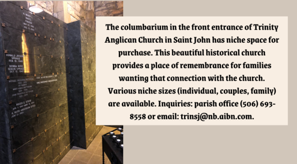 Columbarium space available