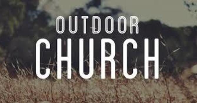 Outdoor Church Sunday Service