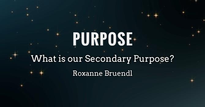Purpose - Secondary Purpose image