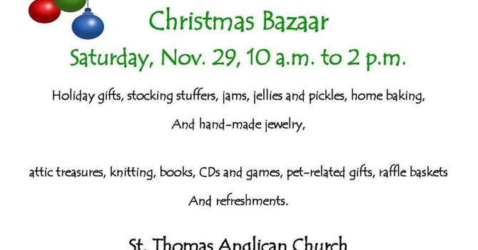 St Thomas's Christmas Bazaar image