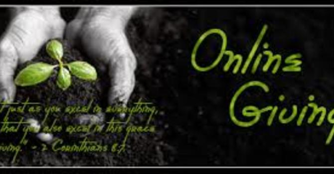 """Our """"Online Giving"""" option is up and running image"""