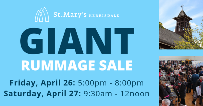 GIANT Rummage Sale at St. Mary's Kerrisdale