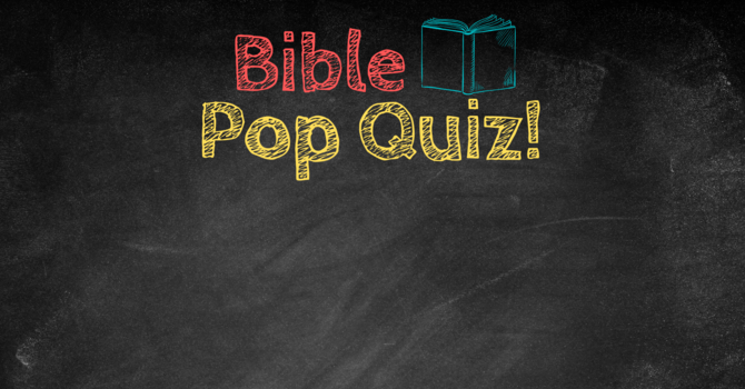 Do you do the Pop Quiz? image