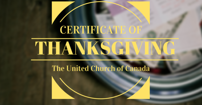 Certificate of Thanksgiving image