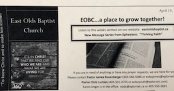 April 19, 2020 Church Bulletin image