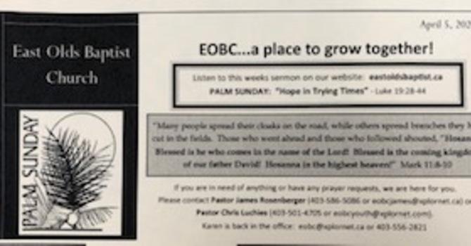 April 5, 2020 Church Bulletin image