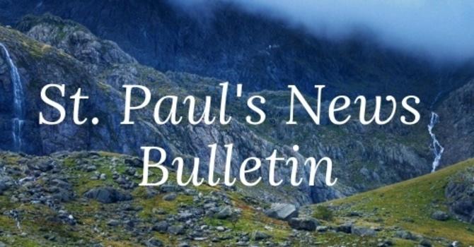 St. Paul's September 1st News Bulletin image
