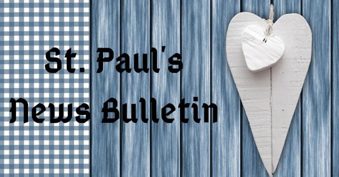 St. Paul's September 15th News Bulletin image