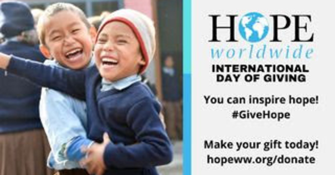 Hope Worldwide International Day of Giving