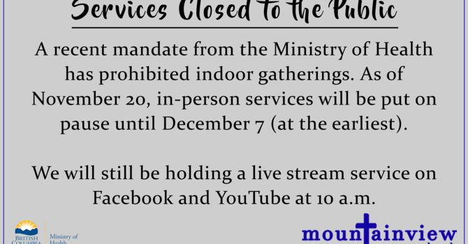 Services Closed to the Public image