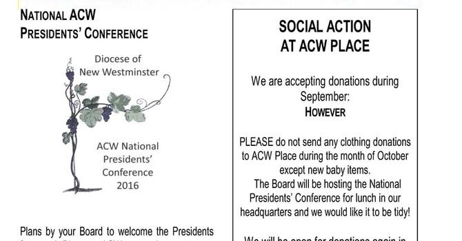 ACW Newsletter for September 2016 image