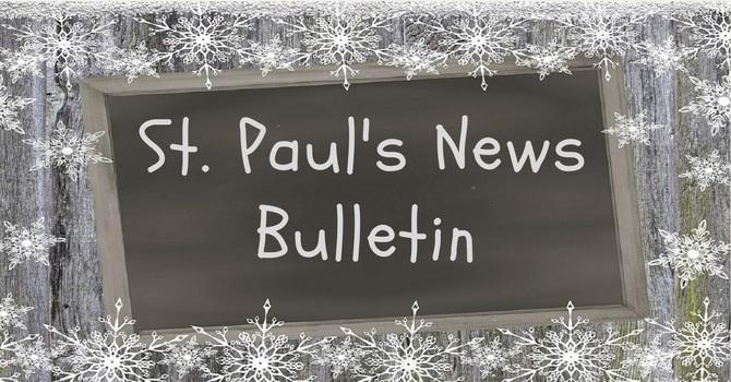 St. Paul's November 17th  News Bulletin image