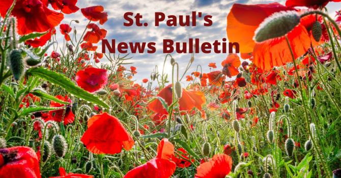 St. Paul's November 10th News Bulletin image
