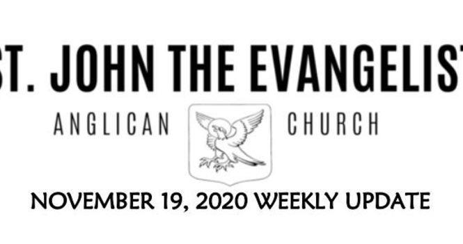 Weekly Update - November 19, 2020