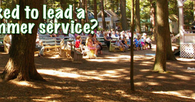 Have you been asked to lead a Worship Service?? image