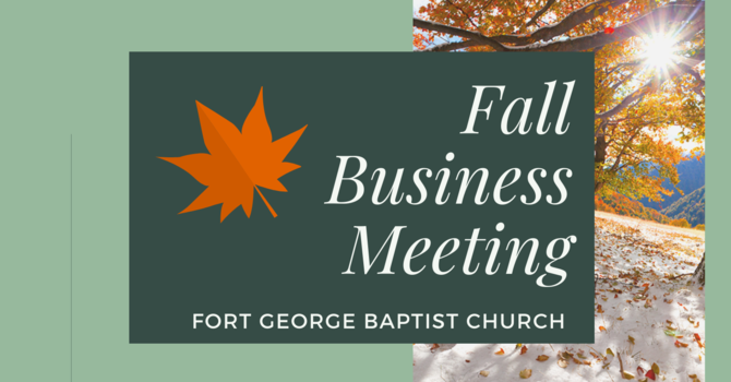 2020 Fall Congregational Business Meeting
