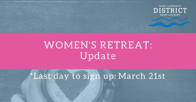 Women's Retreat: UPDATE image
